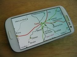 European Rail Atlas displayed on a phone