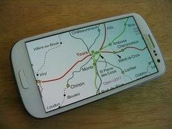 European Rail Atlas displayed on a phone